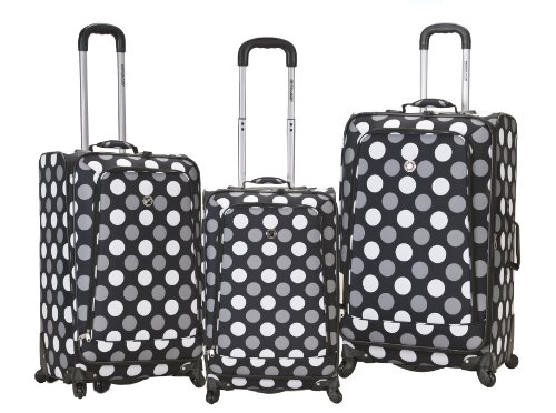 rockland-luggage-fusion-3-piece-luggage-set-black-dot-medium