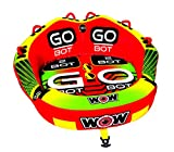 WoW Watersports 18-1040 1 to 2 Person Towable, Go Bot, Front and Back Tow Points, Two Rides in One