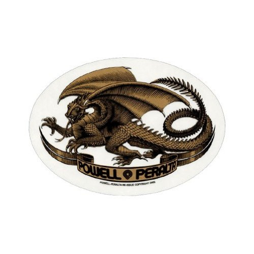 (Powell Peralta Oval Dragon Skateboard Sticker AstColors)