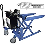 Bishamon SkidLiftTM High Lift Skid Truck, Battery Powered, 2200 Lb. Cap., 20.5 x 42.5 Forks