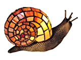 Dale Tiffany TA15173 Snail Tiffany Accent Table Lamp - Antique Bronze