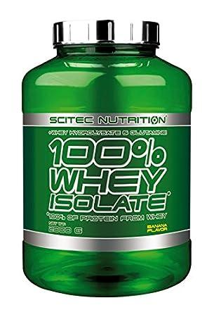 Scitec Nutrition 100% Whey Isolate, Suplimento Nutricional de Proteinas con Sabor de Banana, 2kg: Amazon.es: Salud y cuidado personal
