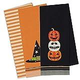 DII Cotton Halloween Holiday Decorative Dish Towels, 18x28'', Set of 3-Halloween Fun