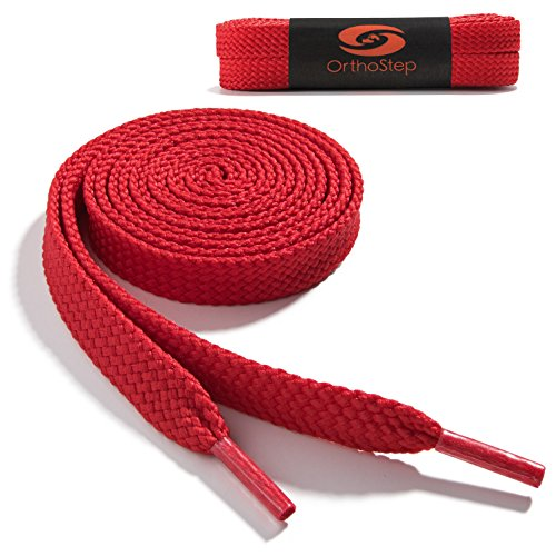 OrthoStep Wide Flat Athletic Shoelaces