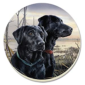 CounterArt Hunting Dogs Black Lab Absorbent Coasters, Set of 4
