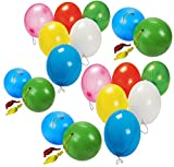 4E's Novelty Punch Balloons, Balls – 15 Pack - Assorted Colors - Great Parties Fun Supplies, Children Party Favor