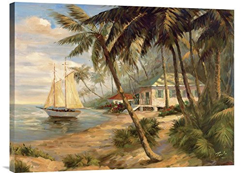 Bolo Key West Hideaway - Global Gallery Budget GCS-126675-2432-142 Bolo Key West Hideaway Gallery Wrap Giclee on Canvas Print Wall Art