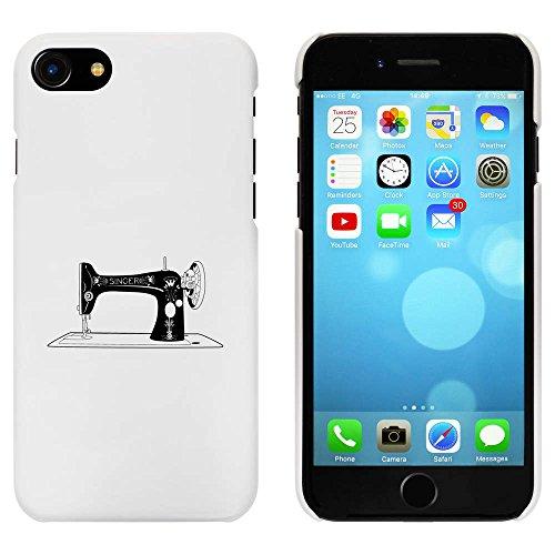 Blanc 'Singer Machine à Coudre' étui / housse pour iPhone 7 (MC00065572)