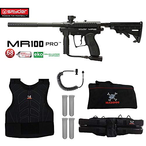 (MAddog Spyder MR100 Sergeant Paintball Gun Package - Diamond Black)