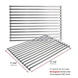 Uniflasy Solid Grill Cooking Grid Grates Replacement Parts for Weber 900, 1100, 2381001, 3721001, Genesis 2000, Genesis 3000, 46510001 Spirit E310, Genesis Gold B, Genesis Gold C, Spirit E-310