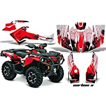 Can Am Outlander XMR MAX XT Graphics 2013-2014: Carbon X - Red