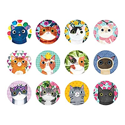 Mudpuppy 9780735355750 Cat's Meow Mini Memory Matching Game, Ages 3 to 8, Multicolor: Mudpuppy: Toys & Games