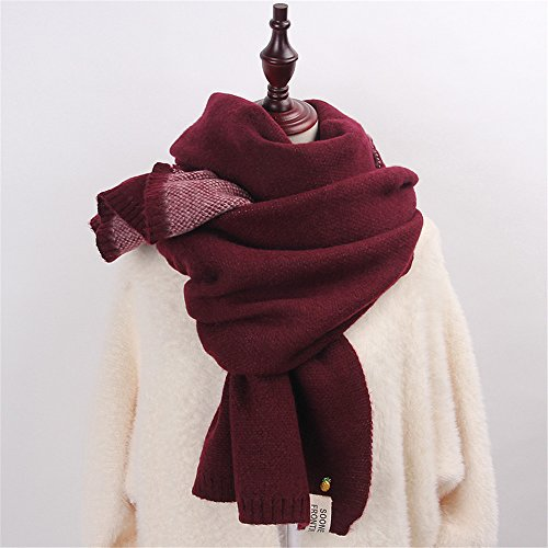 I students sided 45cm thickening f small scarf 200 Pure Female Korean double Sweater fresh series Scarf color knitted Day Winter yqS74UHwx0