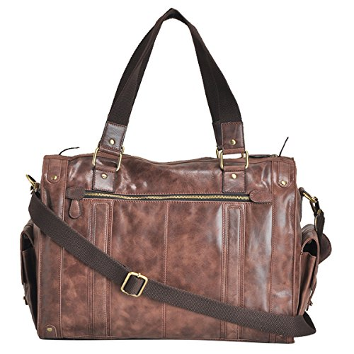 Leather Duffle Holdall Handcrafted Bag For Men Women 20'' Travel Gym Weekender Bag by AzraJamil