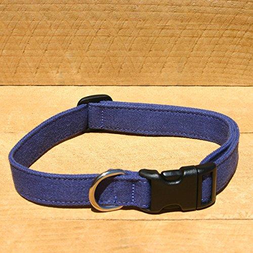 "The Good Dog Company 1"" Blue Large Hemp Basic Canvas Collar"