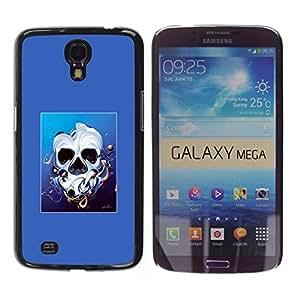 // PHONE CASE GIFT // Duro Estuche protector PC Cáscara Plástico Carcasa Funda Hard Protective Case for Samsung Galaxy Mega 6.3 / Derretido cara del cráneo /