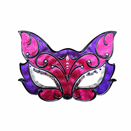 Mardi Gras Party Masquerade Mask,Halloween Makeup Prom Male mask Party Children mask cat face A Prom Masks]()