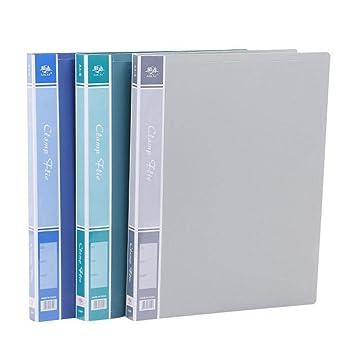 Axiba - Carpeta (A4, con 3 archivadores, clip resistente, con bolsa): Amazon.es: Oficina y papelería