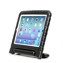 iPad 2, iPad 3, iPad 4 Case– Kids Light Weight Kido Series Multi Function Convertible Handle Kickstand Kids Friendly Protective Shockproof Cover Case with Stand & Handle for Apple iPad 2/3/4 (Black)