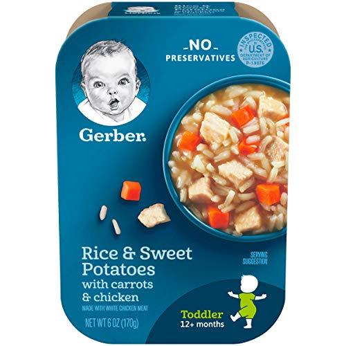 Gerber Graduates Lil Meals, Rice, Sweet Potato, Carrot and Chicken, 6 Ounce, 6 -