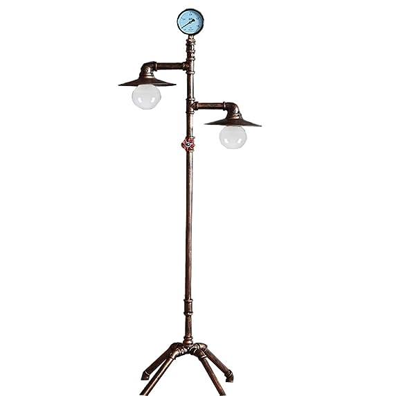 HQQ Lámpara de pie Europea Antigua del Hierro, Sala de Estar, Sitio de Estudio, lámpara de la plomería, decoración casera Creativa.: Amazon.es: Hogar
