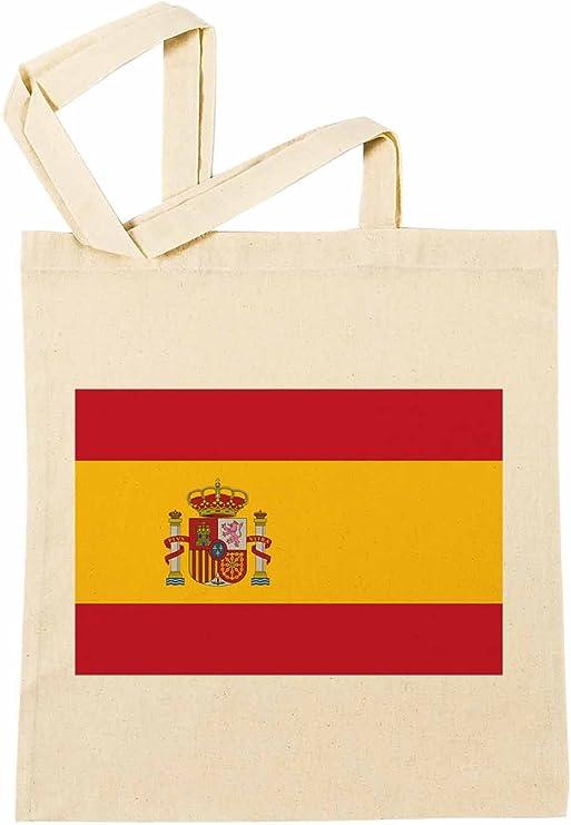 España Nacional Bandera Bolsa De Compras Playa De Algodón ...