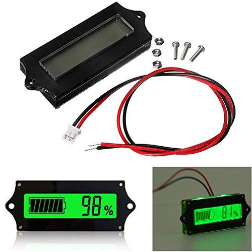 3pcs GY-6 Y6 12V 24V 36V 48V Lead Acid Battery 2-15S Lithium Battery Universal Adjustable 6-65V Green Screen Waterproof LCD Capacity Display Board Indicator Digital Voltmeter -