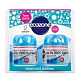 Ecozone Forever Flush 2000, Toilet Block, Twin Pack, Blue, Cleans and Sanitises, Lasts Up To 2000 Flushes, Vegan