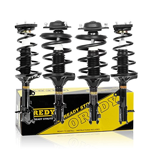 OREDY Full Set of 4 Front & Rear Driver and Passenger Side Complete Struts Shocks Assembly 171404 171405 171407 171406 11132 11131 Compatible with Elantra 2000 2001 2002 2003 2004 2005 2006 (Best Shocks And Struts For Smooth Ride)