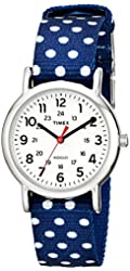Timex Women's Small Size Weekender Watch with Reversible Slip-Thru Nylon Strap