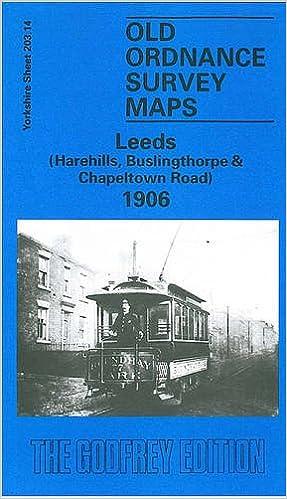 OLD ORDNANCE SURVEY MAP LEEDS HAREHILLS BUSLINGTHORPE CHAPELTOWN ROAD 1906