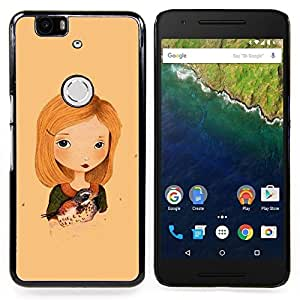 Stuss Case / Funda Carcasa protectora - Dibujo Pájaro Chica Dulce Madre Niño Arte - Huawei Google Nexus 6P