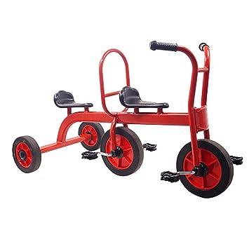 SHARESUN Kids Trike Triciclo de niños Asientos Dobles para Gemelos ...