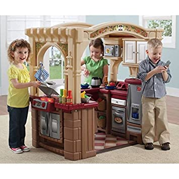 Amazon.com: Kids Play Kitchen Playsets Pretend Cooking Playhouse ...