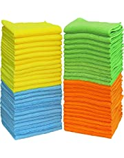 50 Pack - SimpleHouseware Microfiber Cleaning Cloth, 4 Colors