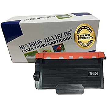 2Pk Compatible Brother TN850 Black Toner Cartridge High Yield 8k MFC L5700DW