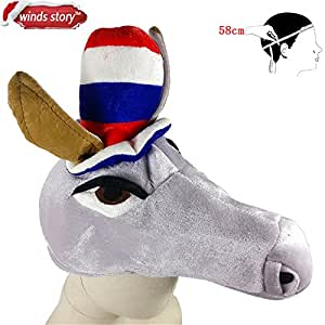 Halloween,Skuleer(TM) Creative Animal Horse Hat Halloween Aquarium Christmas Cosplay Birthday Party Costume Warm For Children/Adult Gift[Olive]
