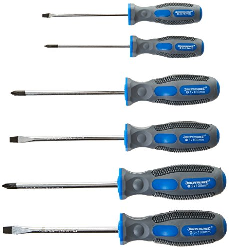 Silverline 546524 General Purpose Soft-Grip Screwdriver Set Slotted &...