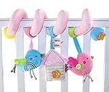 Little Bird Pink Pastel Newborn Infant Baby Plush Toys Bed Stroller Car Hanging Playing Toys Musical Kids Baby Rattles Mobiles