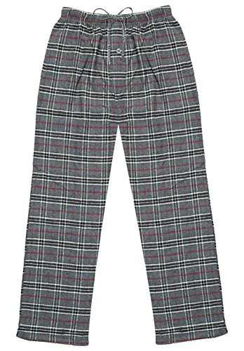 Lounge Bottom - North 15 Men's Yarn-Dyed%100 Cotton Flannel, Pajama Lounge Pants-XL-1222-Design1
