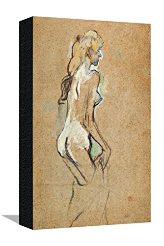 Nude Girl, 1893 Stretched Canvas Print by Henri de Toulouse-Lautrec - 12 x 16 in