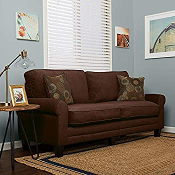 Amazon Com Truly Home Whitney Sofa 73 Quot In Windsor Brown
