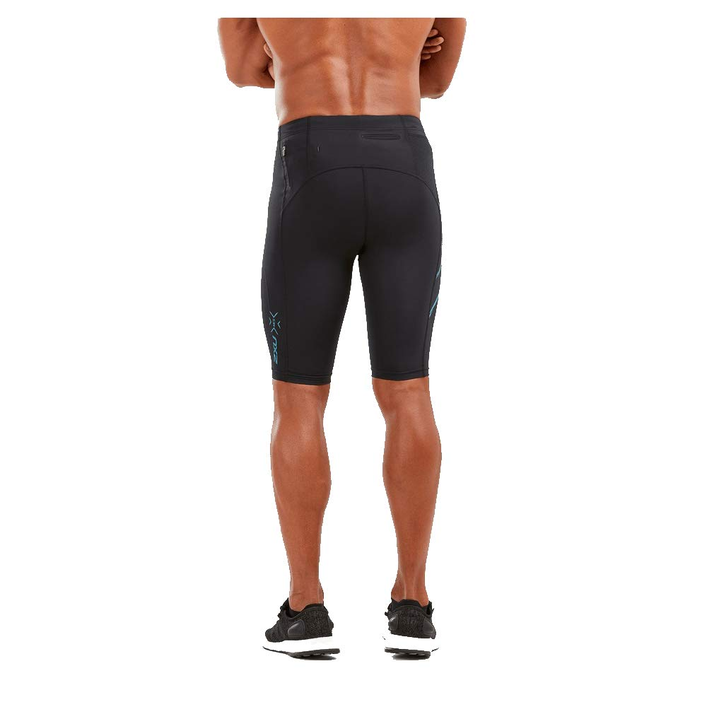 2XU Men's MCS Run Compression Shorts (Black/Corsair Reflective, Small)