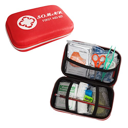 Lightweight SOMAN® 64 Pieces First-Aid Kit for Home,Camping,Typical Outdoor Activities First Aid Kit Survival
