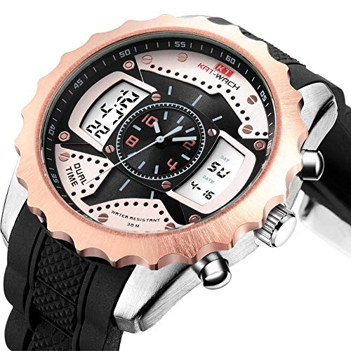 North King Electronic Watches for Men with Silicone Strap Multifunctional Waterproof Watches