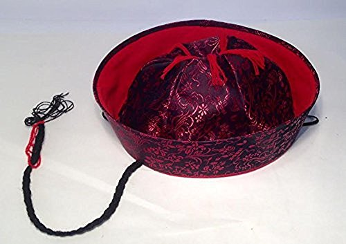 Oriental Silk Hat with Ponytail