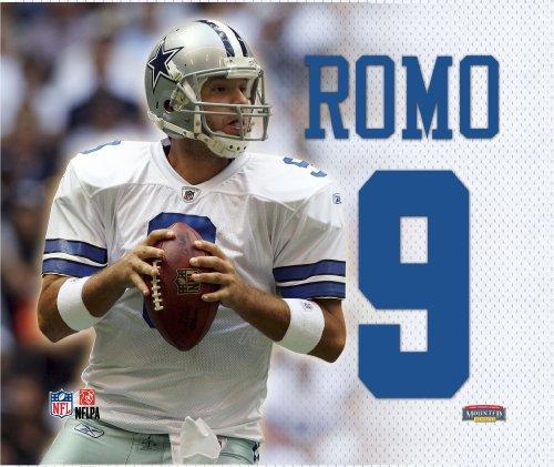 ROMO, TONY JERSEY BACK 9x11 CANVAS (COWBOYS) - Tony Romo Back Jersey