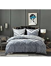 VIGO Sängkläder 135 x 200 2 påslakan 135 x 200 + 2 örngott 80 x 80 cm 100 % ventilerande bekväm bomull mikrofiber allergiker sängkläder 135 x 200 4 delar