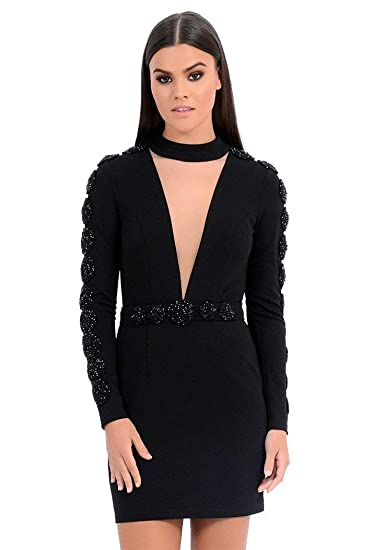 novel style best collection classic chic Forever Unique Women's Elma Long Embellished Sleeved Bodycon ...