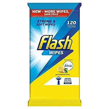 Flash Toallitas mediterránea Limón 90 por paquete